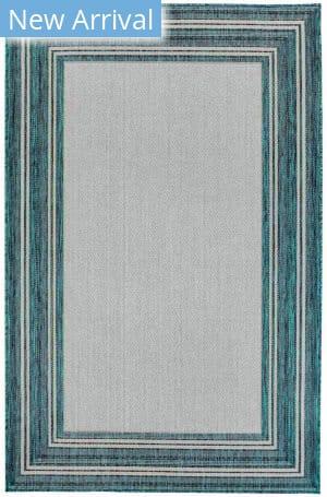 Trans-Ocean Carmel Multi Border 8425/94 Blue Area Rug
