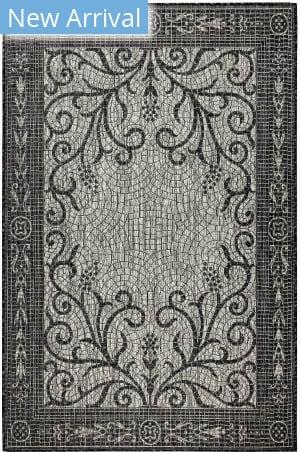 Trans-Ocean Carmel Mosaic 8429/48 Black Area Rug