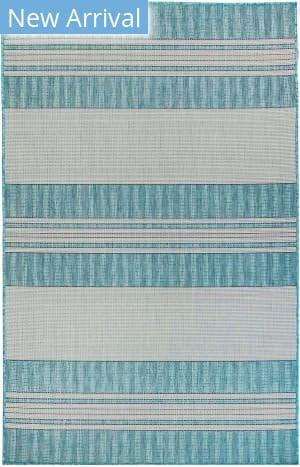 Trans-Ocean Carmel Stripe 8435/04 Blue Area Rug