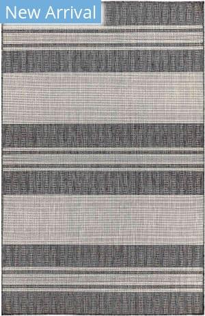 Trans-Ocean Carmel Stripe 8435/48 Black Area Rug