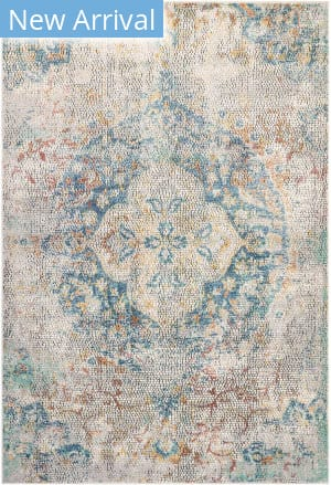 Trans-Ocean Horizon Medallion 9081/03 Blue Area Rug