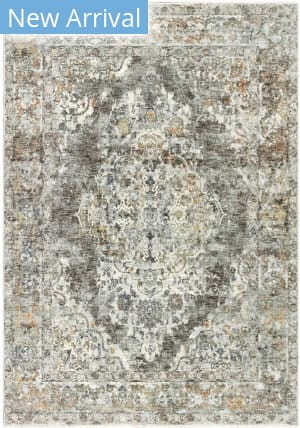 Trans-Ocean Jasmine Diamond Medallion 7027/47 Grey Area Rug