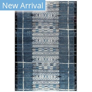 Trans-Ocean Marina Tribal Stripe 8057/33 Navy Area Rug