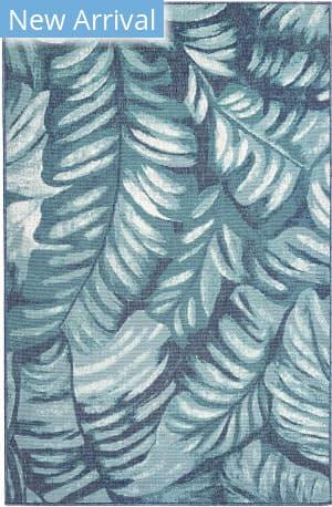 Trans-Ocean Riviera Palm 7650/04 Blue Area Rug