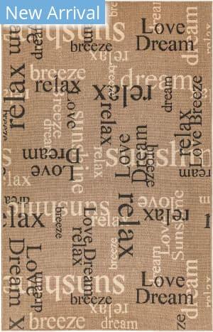 Trans-Ocean Riviera Happy Words 7653/11 Khaki Area Rug