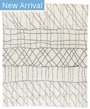 Tufenkian Knotted Sketch White - Grey Area Rug