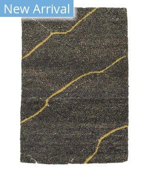 Tufenkian Tibetan Gravel Yellow Stripe by Laura Kirar  Area Rug