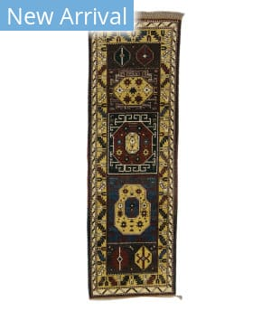 Tufenkian Knotted Panel Runner Yellow Area Rug