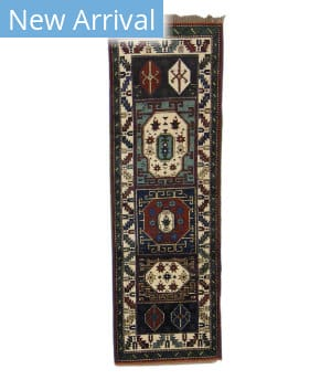 Tufenkian Knotted Panel Runner Green/Blue Area Rug