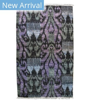 Tufenkian Knotted Abbas Purple Area Rug
