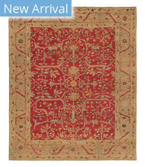Tufenkian Knotted Jozan Ruby Sheared Area Rug