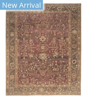 Tufenkian Knotted Jozan Claret/Olive Area Rug