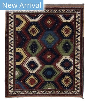 Tufenkian Knotted Bordjalu Red Area Rug