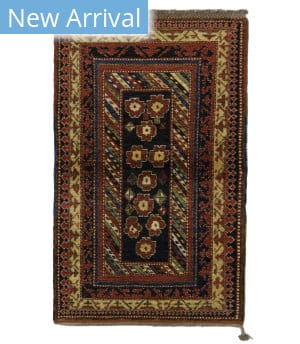 Tufenkian Knotted Bordjalu Blossoms Black Area Rug
