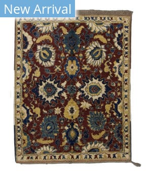 Tufenkian Knotted Bakhtiar II Red Area Rug