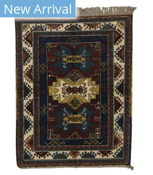 Tufenkian Knotted Kazak II Red/Navy Area Rug
