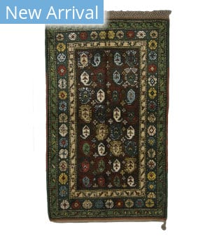 Tufenkian Knotted Moghan Brown/Green Area Rug