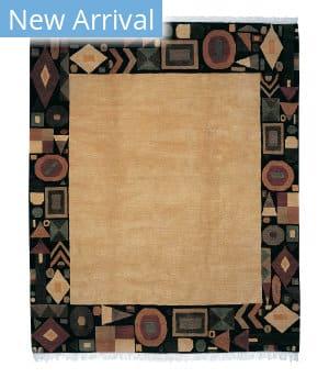 Tufenkian Tibetan Geometry Cornsilk Area Rug