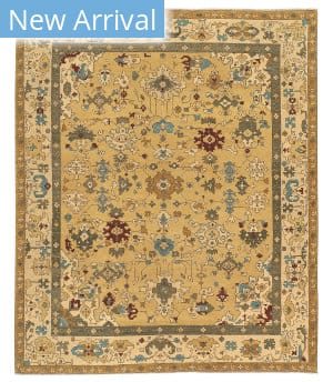 Tufenkian Knotted Herat Canary Song Sheared Area Rug