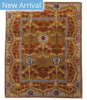 Tufenkian Tibetan Inverness Rust/Brown Area Rug