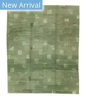 Tufenkian Tibetan Block Check T107 Green Area Rug