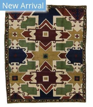 Tufenkian Knotted Star Kazak Simple Area Rug