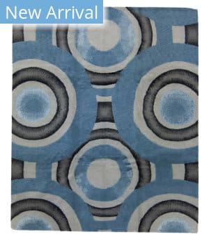 Tufenkian Tibetan Shaded Rings Blue Area Rug