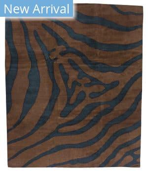 Tufenkian Tibetan Zebra Brown Area Rug