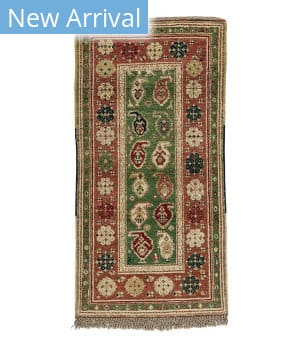 Tufenkian Knotted Boteh Green Area Rug