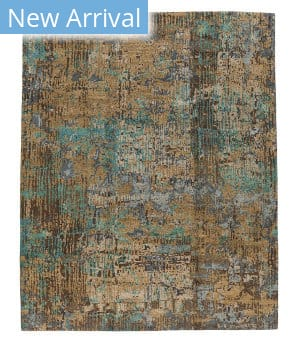 Tufenkian Tibetan Gold Blue Field  Area Rug