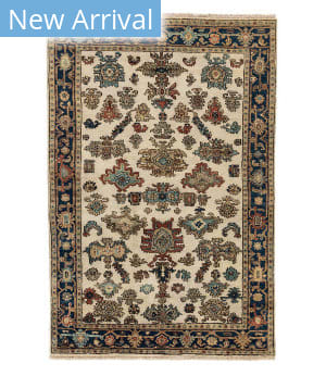 Tufenkian Knotted Jt01 Ivory/Navy Area Rug
