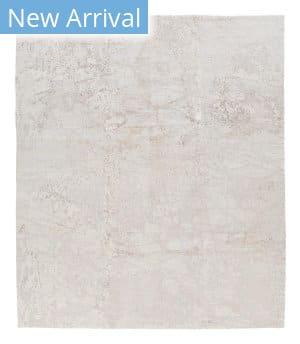 Tufenkian Tibetan Middle White Silk  Area Rug