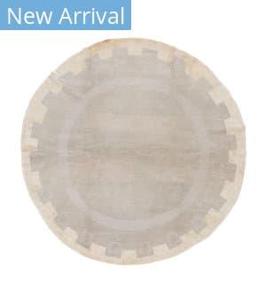 Tufenkian Tibetan Sestilo Circle Rug Grey Area Rug