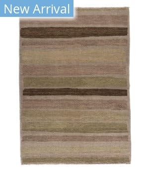 Tufenkian Knotted Gedin Brown Stripe Area Rug