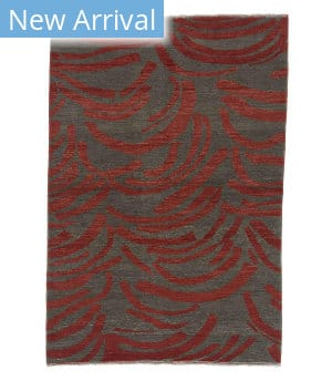 Tufenkian Knotted Clodagh Bark Red/Brown Area Rug