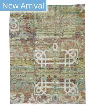 Tufenkian Tibetan Overdyed Brocade  Area Rug