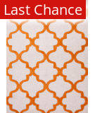 Rugstudio Sample Sale 82178R White/Sun Orange Area Rug