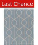 Rugstudio Sample Sale 137615R Light Blue - Ivory Area Rug