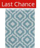 Rugstudio Sample Sale 150118R Teal - Ivory Area Rug