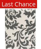 Rugstudio Sample Sale 150218R Dark Grey - Off-White Area Rug