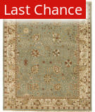 Rugstudio Sample Sale 168181R Turquoise - Ivory Area Rug