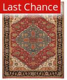 Rugstudio Sample Sale 184871R Red - Black Area Rug