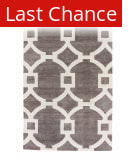 Rugstudio Sample Sale 74827R Smoked Pearl - Bright White Area Rug
