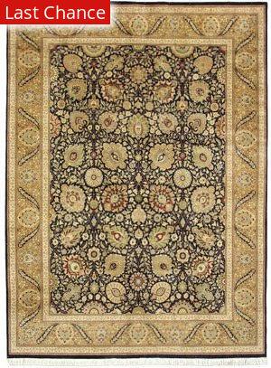 J. Aziz Shah Abbas 1602 Black/Gold Area Rug