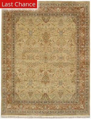 J. Aziz Shah Abbas 1604 Gold / Rust Area Rug