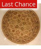 J. Aziz 16-18 Shah Abbas Lem-Blk 86808 5'1 X 7'7 Oval Rug