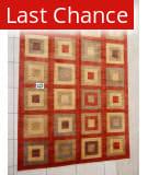 J. Aziz Peshawar Red- 86921 8' x 10' 4'' Rug