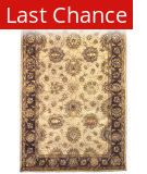 Linon Rosedown Slsg25 Pale Gold / Chocolate Area Rug