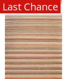 Rugstudio Sample Sale 53923R Terracotta / Stripe Area Rug
