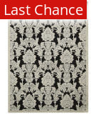 Rugstudio Sample Sale 123579R Black Area Rug